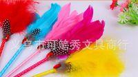 Vente en gros nouveau Signature de mariage Pen arrivée plume de mariage Favor Diamante Feather Pen pour la décoration de mariage fournitures de produit 24pc / lot