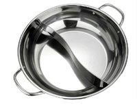 Wholesale casserole GRID soup pot stainless steel hot pot thickening cm induction soup pot grid pot about litre