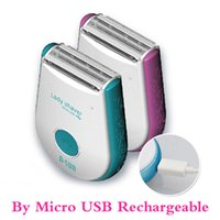 Wholesale 2014 NEW DESIGN By Micro USB Rechargeable electric Travel Epilator shaver for Ladies