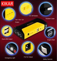 Wholesale 5 in Portable Power Supply Pack Jump Start Flashlight Dual USB Seatbelt Cutter Car Starter Bank Windows Glass Breaker LED Torch Blade Vans
