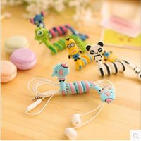 Wholesale Cheap Price Cartoon animals cable winder Mobile Earphone bobbin winder cable management in Stock