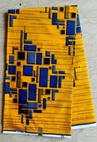 goods in china - This is beautiful pattern design African printed wax made in China bright yellow and blue colour good quality and wax fabric