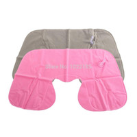 air plane flights - 1pcs Inflatable Pillow Air Cushion Neck Rest U Shaped Compact Plane Flight Travel