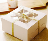 Wholesale 20pcs White Cupcake Holder Box Bakery Gift Cake Box CH5043006