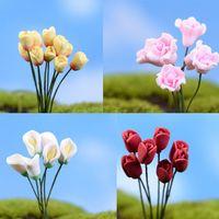 Wholesale sale artificial flower miniatures cute plants fairy garden gnome moss terrarium decor crafts bonsai bottle garden c095