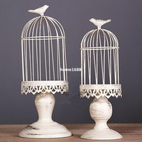 metal candle stand - white moroccan decor vintage metal candle lanterns candelabra bird cage decoration for wedding