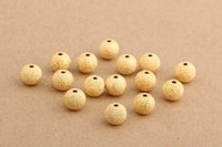 Wholesale Gold Silver mm Plated Stardust Beads dia Alloy layer Circle Beads Polish Spacer Beads Fit Jewelry Bracelet charms Pendant Findings DIY