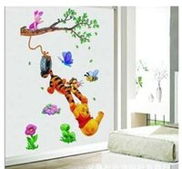 tigger - Cartoon wall stickers wall stickers Winnie the Pooh and Tigger children s room decorative wall stickers stickers TC1067