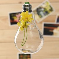 Wholesale New Arrival Hanging Glass Flower Plant Bulb Vase Container Home Wedding Party Decor order lt no track