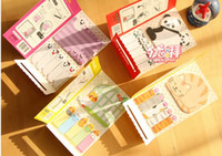 Wholesale NewFashion creative candy color sticky cartoon note book Note Memo Message Post Writing scratch pad