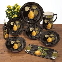 american tableware - Ceramic fashion american rustic west tableware scodella dish mug up fruit plate
