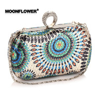 Wholesale 2016 Newest Finger Ring Evening Bags Ladies Party Wedding Bride Fashion Wallet Day Clutch Makeup Bags colors