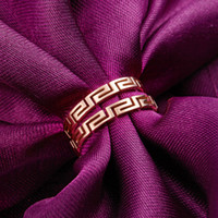 ancient china wall - hollow out the Great Wall style restoring ancient ways ring queen palace maze grain rose gold ring steel ring titanium for women