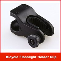 Less than 5.0MP plastic flashlight - New Bike Bicycle Cycling Grip Mount Bracket Bike Clamp Bicycle Flashlight LED Torch Light Plastic Holder Mount Clip mm