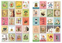 adhesive label paper - Postage stamp stickers Adhesive stickers vintage style Francoise seal stickers Decoration label paper sticker note sticker per