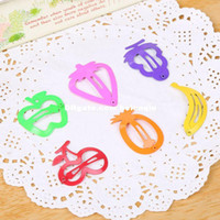baby gifs - fashion cute candy colored paint hairpin side folder BB folder colorful fruit shop Hair Accessories baby girls gifs