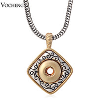 Wholesale VOCHENG Small NOOSA mm Interchangeable Jewerly mm Metal Snap Button Ginger Snaps Jewelry Pendant Necklace NN