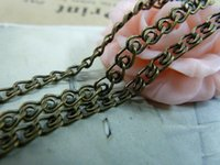 Wholesale 2M antique bronze copper mm flat chain chain pendant charm necklace setting accessories jewelry findings b E1021 c1049