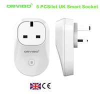 Wholesale 5 Orvibo S20 WiFi Smart Socket timer UK Plug for Smart Home Automation support iPhone Android Smartphones