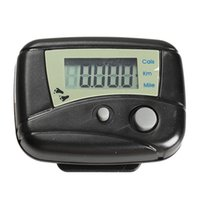 Wholesale New Multi function LCD Run Step Pedometer Walking Distance Calorie Counter Passometer Black PTSP
