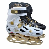 adult ice skates - roller skates adult rich golden color roller skates ice skates hockey skates in one shoes in