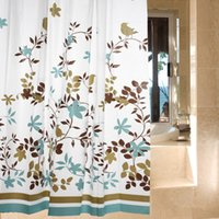 bathroom shower curtain hooks - Classic Modern Floral m Thick Waterproof PEVA Shower Curtain Bathroom Curtain With Hooks L3271