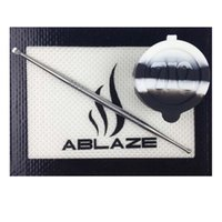 Wholesale ABLAZE Black White Silicone Concentrate Oil BHO Wax Butane Honey Shatter Proof Errl Container Pad Mat Jar Tool Slick Sticky Nonstick