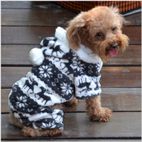 Wholesale Fashion Warm Winter Hoodie Jumpsuit Coat Clothes Costume For Pet Dog Puppy Size G01063