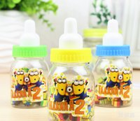 Wholesale New Mixed Mixed set Despicable Me Cartoon Plastic Bottles Eraser Stationery For Kid Gift XX6