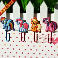 Wholesale My Little Pony Paper Clips Paperclip Bookmarks for Book Page Holder School Office Party Supplies Stationery
