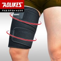 Wholesale Breathable Stretch Thigh Brace Leg Bandage Compression Sleeve Support Protector Sports Wrap Thigh Protection ZB HBK101