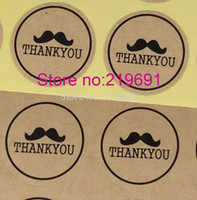 Wholesale SIZE cm Kraft sticker Kraft Thank YOU Sticker Label Kraft paper stikcer label Kraft gift sticker