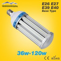 Wholesale High Brightness LED Corn Light Bulb W W W W W W E26 E27 E39 E40 High Bay Garden Warehouse parking lighting