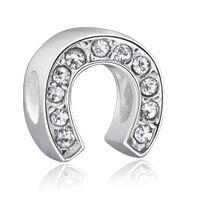achat en gros de porte diy-Porte portique Bijoux en cristal de 925 chaînes en argent sterling européenne Charm Perles Fit bricolage Serpent Bracelets Collier Mode