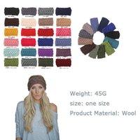 Wholesale new Fashion lady Headbands Wool Stretch Wide Plait Headbands Hair Bands Crochet Autumn Knit Headbands Warm Hoop D686J