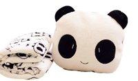 Wholesale New Cute Cartoon Panda Plush Toy Air condition Blanket Creative Pillow Cushion
