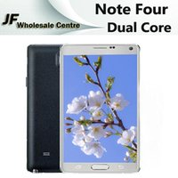 Wholesale HDC Note Four N9100 Smartphone inch Dual Core Android MTK6572 Cellphone Quad Band G Metal Side Unlocked Smart Phone