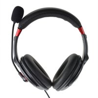 Wholesale Stylish USB Stereo Headset Headphone w Microphone Speaker Black Red m Cable