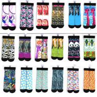 Wholesale 2015 DHL d socks kids women men hip hop socks d odd socks cotton skateboard socks printed gun emoji socks pair E46L