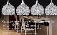 Wholesale Crystal chandeliers restaurant restaurant lights glass dining table lamp lights creative bar LED pendant lamps
