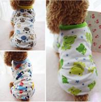 dog pajamas - Dog pajamas cotton printed pet dog clothes clothing dog four legs clouthes