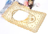 Wholesale Rectangle Cup Mats European Tableware Pads Attractive Home Table Decoration Accessories QBP
