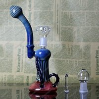 art works - LIMITED VERSION BONG Two Function Waterpipes Lamp Shaped Oil Rig Work and Art with Sprial Print