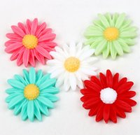 Acrylic, Plastic, Lucite flower beads - MIC Colors Resin Daisy Flower Flatback Beads mm Jewelry DIY