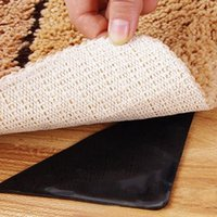Wholesale 4X Rug Carpet Mat Grippers Non Slip Anti Skid Reusable Washable Silicone Grip Black