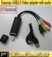 Wholesale Easycap USB Video adapter with Audio TV DVD VHS Capture Adapter with Retail box