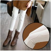 Wholesale Plus thick velvet leggings winter new Korean ladies outer wear white feet pencil pants H0269
