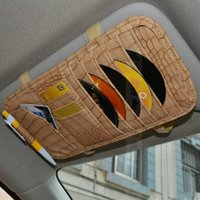 Wholesale Car CD bag CD Wallet on Sun Visor Car Copy Crocodile Texture DVD bag DVD wallet Fast