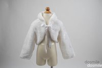 fur flower scarf - 2016 flower girl fur cape long sleeves for first communion outwear girl faux fur jacket four color availble