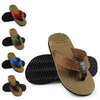 best indoor slippers - fashion men s beach slippers Flip shoes Cheap best quality